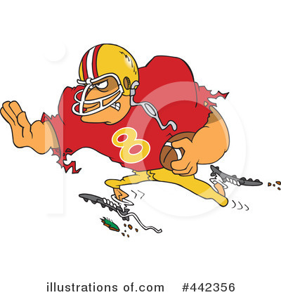 Football Clipart #442356 by toonaday