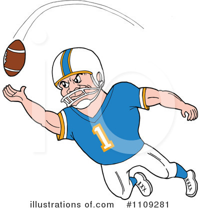 Football Player Clipart #1109281 by LaffToon