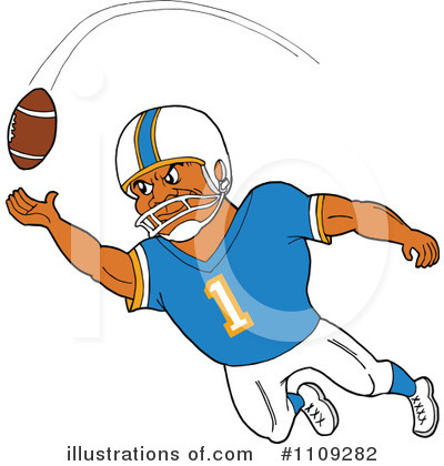 Football Player Clipart #1109282 by LaffToon