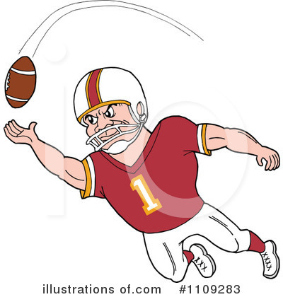 Football Player Clipart #1109283 by LaffToon