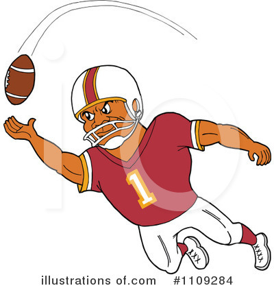 Football Player Clipart #1109284 by LaffToon