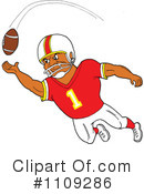 Football Player Clipart #1109286 by LaffToon