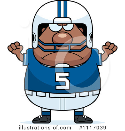 Football Clipart #1117039 by Cory Thoman