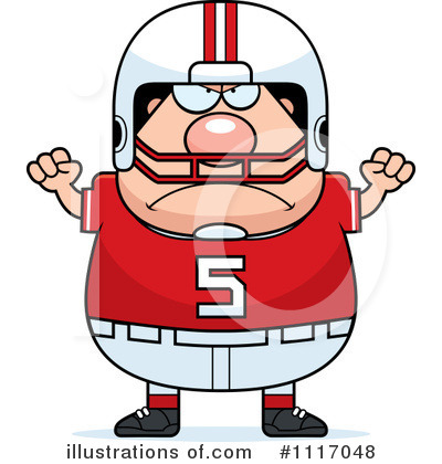 Football Player Clipart #1117048 - Illustration by Cory Thoman