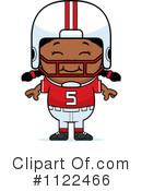 Royalty-Free (RF) Football Player Clipart Illustration #1122466