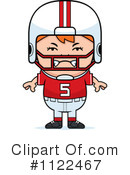 Royalty-Free (RF) Football Player Clipart Illustration #1122467