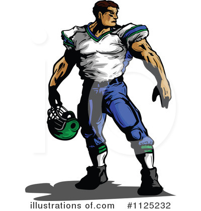 Royalty-Free (RF) Football Player Clipart Illustration by Chromaco - Stock Sample #1125232