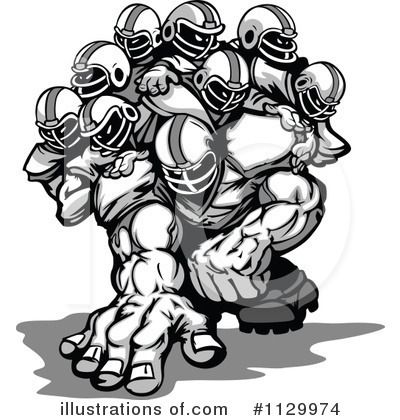 Football Clipart #1129974 by Chromaco