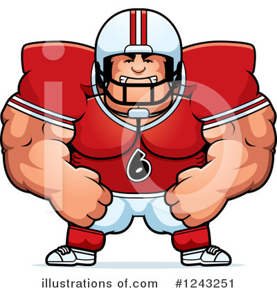 Football Clipart #1243251 by Cory Thoman