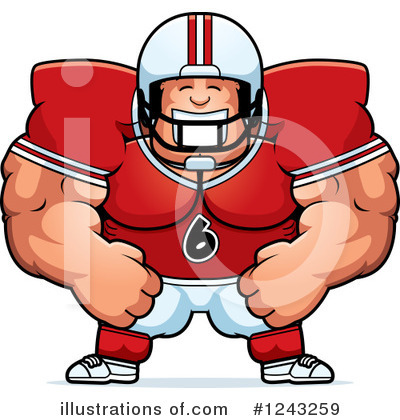 Football Clipart #1243259 by Cory Thoman