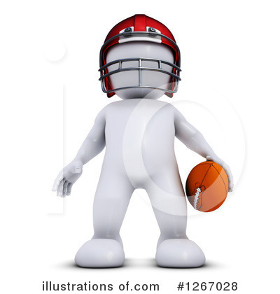 Football Player Clipart #1267028 by KJ Pargeter