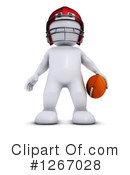Royalty-Free (RF) Football Player Clipart Illustration #1267028