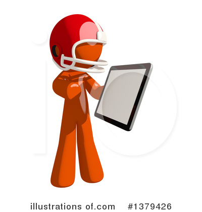 Royalty-Free (RF) Football Player Clipart Illustration by Leo Blanchette - Stock Sample #1379426