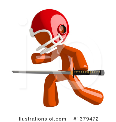 Football Player Clipart #1379472 by Leo Blanchette