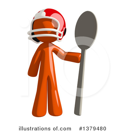 Football Player Clipart #1379480 by Leo Blanchette