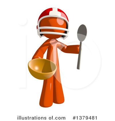 Football Player Clipart #1379481 by Leo Blanchette