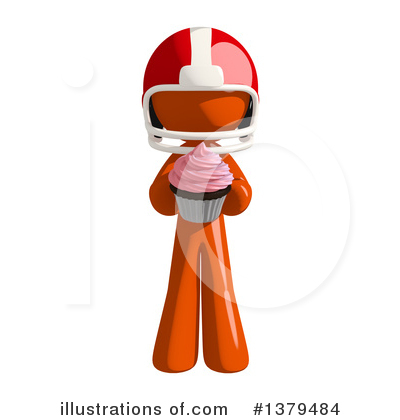 Football Player Clipart #1379484 by Leo Blanchette