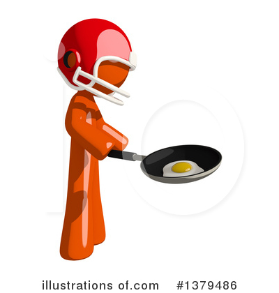 Football Player Clipart #1379486 by Leo Blanchette