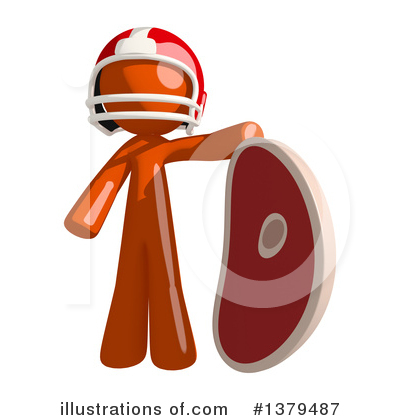 Football Player Clipart #1379487 by Leo Blanchette