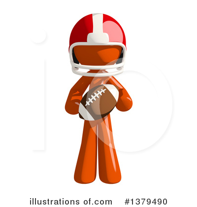 Football Player Clipart #1379490 by Leo Blanchette