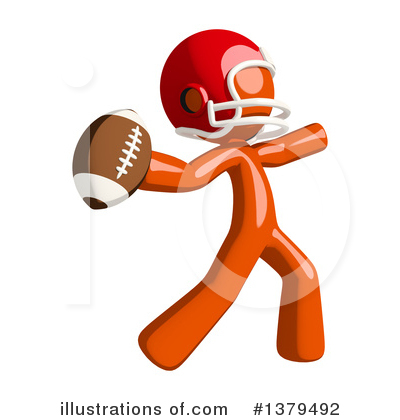 Football Player Clipart #1379492 by Leo Blanchette