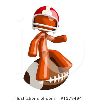 Football Player Clipart #1379494 by Leo Blanchette