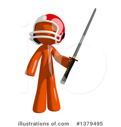 Football Player Clipart #1379495 by Leo Blanchette