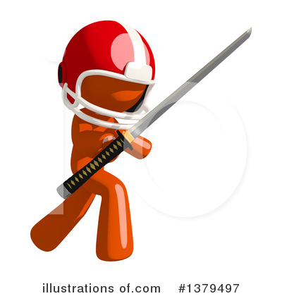 Football Player Clipart #1379497 by Leo Blanchette
