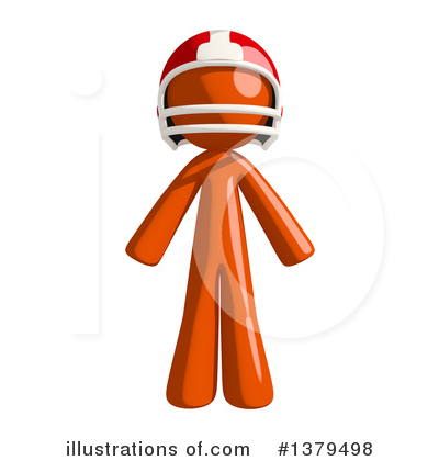 Football Player Clipart #1379498 by Leo Blanchette