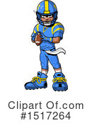 Football Player Clipart #1517264 by Clip Art Mascots