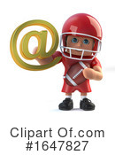 Football Player Clipart #1647827 by Steve Young