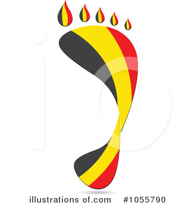 Royalty-Free (RF) Footprint Flag Clipart Illustration by Andrei Marincas - Stock Sample #1055790