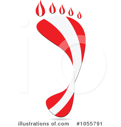 Royalty-Free (RF) Footprint Flag Clipart Illustration by Andrei Marincas - Stock Sample #1055791
