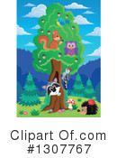 Forest Animals Clipart #1307767 by visekart