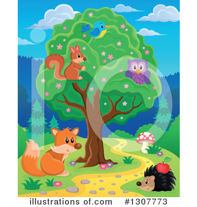 Forest Animals Clipart #1307773 by visekart
