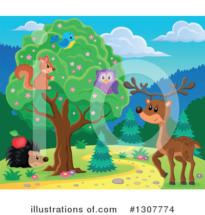Forest Animals Clipart #1307774 by visekart