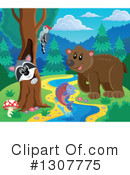 Forest Animals Clipart #1307775 by visekart