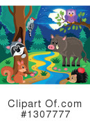 Forest Animals Clipart #1307777 by visekart