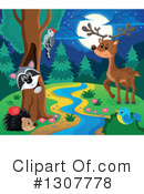 Forest Animals Clipart #1307778 by visekart