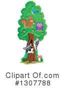 Forest Animals Clipart #1307788 by visekart