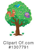 Forest Animals Clipart #1307791 by visekart