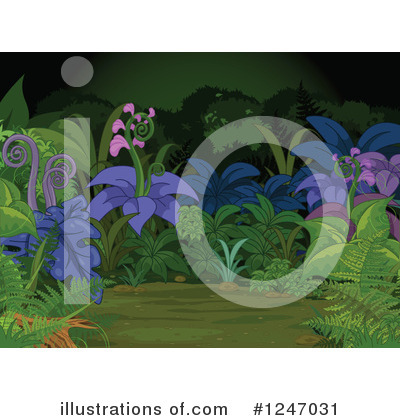 Ferns Clipart #1247031 by Pushkin
