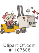 Forklift Clipart #1107608 by gnurf