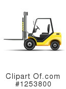 Forklift Clipart #1253800 by vectorace