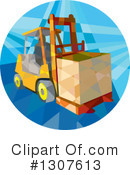 Forklift Clipart #1307613 by patrimonio