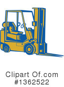 Forklift Clipart #1362522 by patrimonio