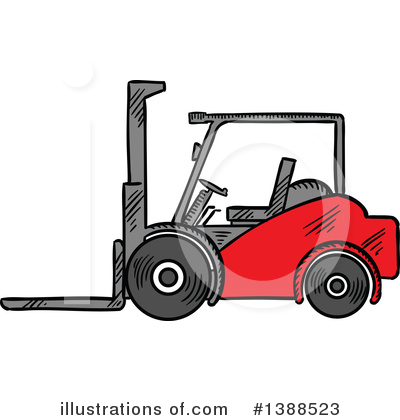 Forklift Clipart #1388523 by Vector Tradition SM