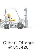 Forklift Clipart #1390428 by Vector Tradition SM