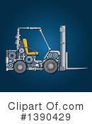 Forklift Clipart #1390429 by Vector Tradition SM