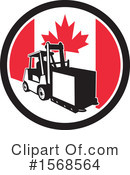 Forklift Clipart #1568564 by patrimonio